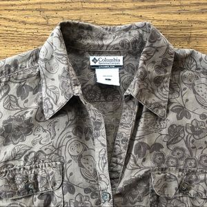 Columbia Button Down with Squirrels & Owls